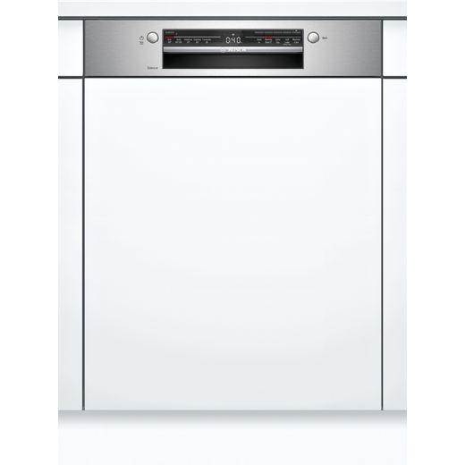 Bosch SMI2ITS33G Wifi Connected Semi Integrated Standard Dishwasher - Stainless Steel Control Panel - A+ Rated