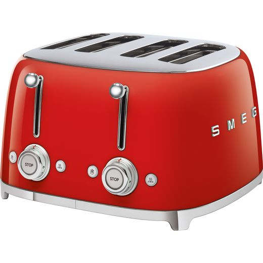 Smeg 50's Retro TSF03RDUK 4 Slice Toaster - Red