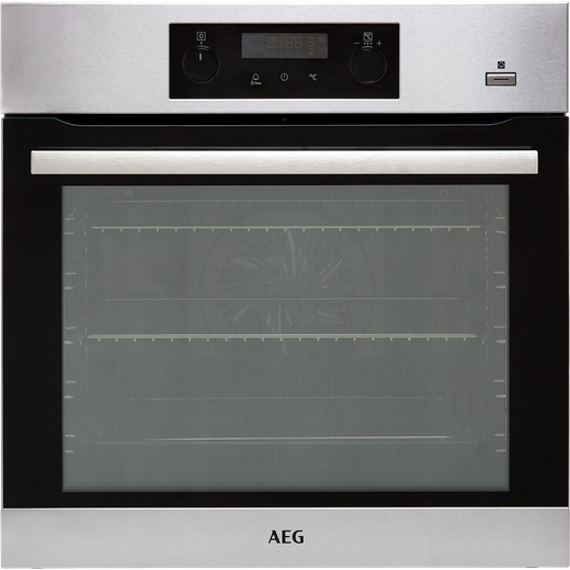 AEG BPS355020M Built In Electric Single Oven - Stainless Steel