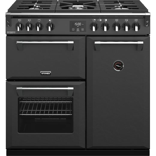 Stoves Colour Boutique Collection Richmond Deluxe S900G CB 90cm Gas Range Cooker - Anthracite - A Rated