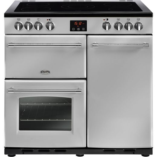 Belling Farmhouse90E 90cm Electric Range Cooker with Ceramic Hob - Silver - A/A Rated