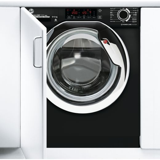 Hoover H-WASH&DRY 300 PRO HBDOS695TAMCBE Wifi Connected Integrated 9Kg / 5Kg Washer Dryer with 1600 rpm - Black - D Rated