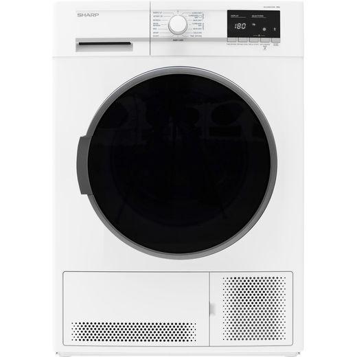 Sharp KD-GCB0S7GW9-EN 10Kg Condenser Tumble Dryer - White - B Rated