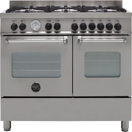 Bertazzoni Master Series MAS100-6-MFE-D-XE 100cm Dual Fuel Range Cooker - Stainless Steel - A/A Rated