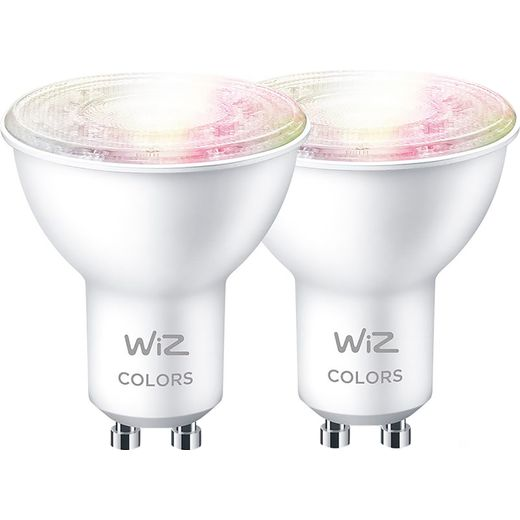 WiZ GU10 White and Colour Smart Bulb - 2 Pack - A+ Rated