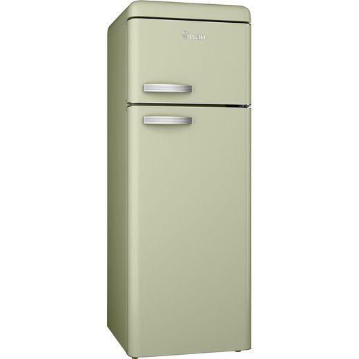 Swan Retro SR11010GN 80/20 Fridge Freezer - Green - F Rated
