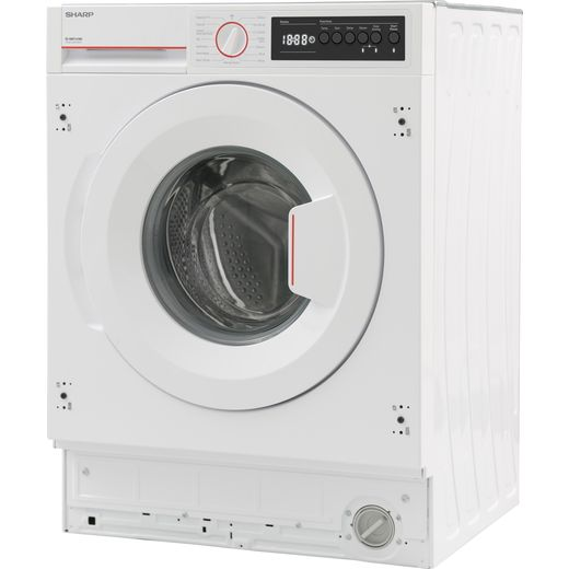 Sharp ES-NIB7141WD-EN Integrated 9Kg Washing Machine with 1400 rpm - White - D Rated