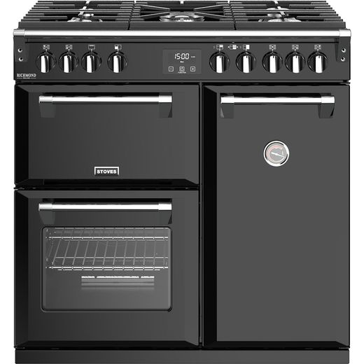 Stoves Richmond Deluxe S900G 90cm Gas Range Cooker - Black - A/A Rated