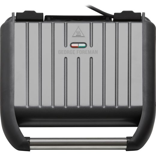 George Foreman 5 Portion Steel Grill 25041 Health Grill - Gun Metal