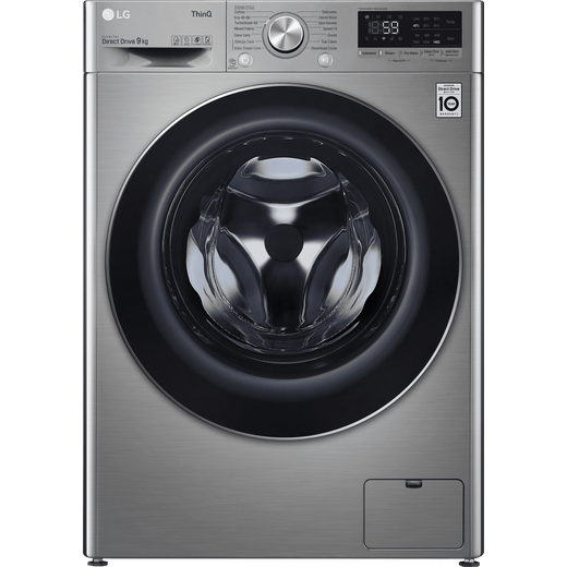 LG V7 F4V709STSE Wifi Connected 9Kg Washing Machine with 1400 rpm - Graphite - B Rated