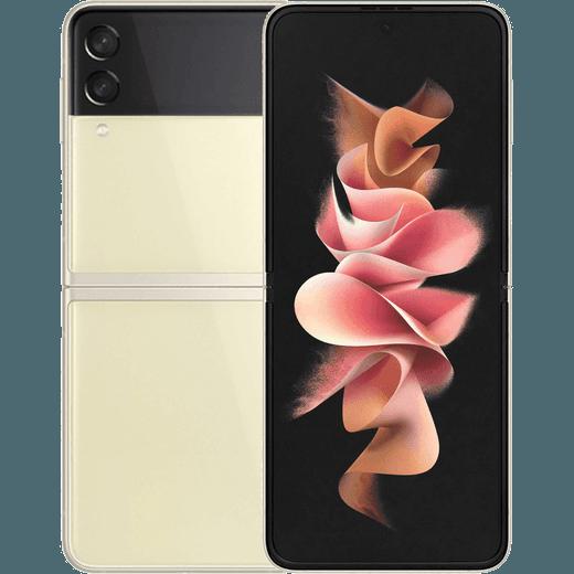 Samsung Galaxy Z Flip3 5G 128GB Flip Phone in Cream