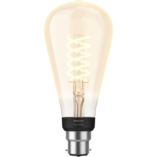 Philips Hue B22 Filament Edison Smart Bulb - A+ Rated