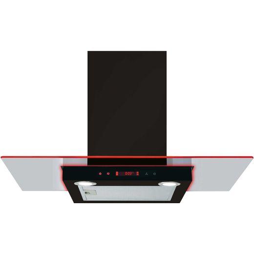 CDA EKN90BL 90 cm Chimney Cooker Hood - Black - D Rated