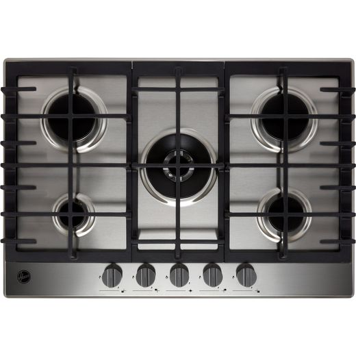 Hoover HMK75WK3X 74cm Gas Hob - Stainless Steel