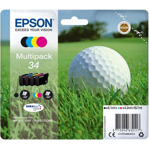 Epson Golf Ball Multipack 4-colours 34 DURABrite Ultra Ink Cartridge