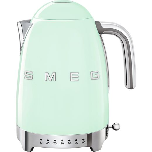 Smeg 50's Retro KLF04PGUK Kettle with Temperature Selector - Pastel Green