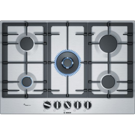 Bosch Serie 6 PCQ7A5B90 Built In Gas Hob - Stainless Steel