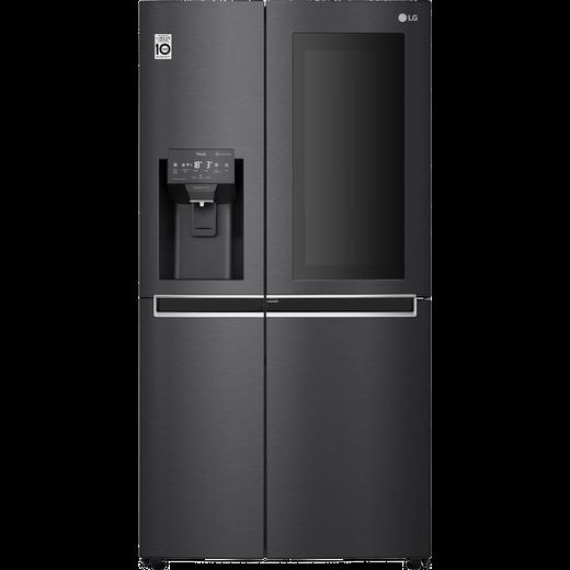 LG InstaView™ Door-in-Door™ GSX961MCCZ Wifi Connected American Fridge Freezer - Matte Black - F Rated