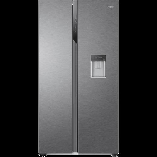 Haier HSR3918EWPG American Fridge Freezer - Silver