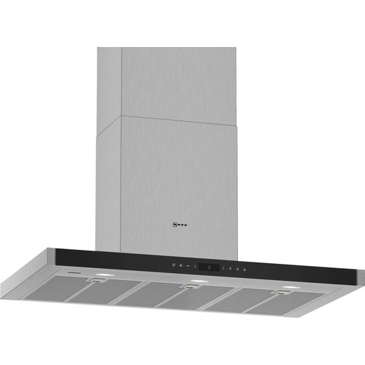 NEFF N90 D96BMV5N5B Wifi Connected 90 cm Chimney Cooker Hood - Stainless Steel - A+ Rated