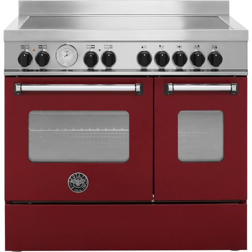 Bertazzoni Master Series MAS90-5I-MFE-D-VIE 90cm Electric Range Cooker with Induction Hob - Burgundy - A+/A Rated