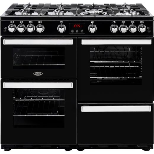 Belling Cookcentre100G 100cm Gas Range Cooker - Black - A/A Rated