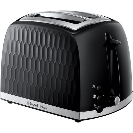 Russell Hobbs Honeycomb 26061 2 Slice Toaster - Black