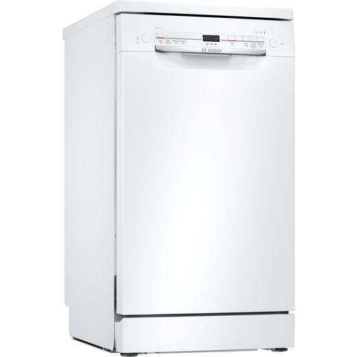 Bosch Serie 2 SRS2IKW04G Slimline Dishwasher - White - F Rated