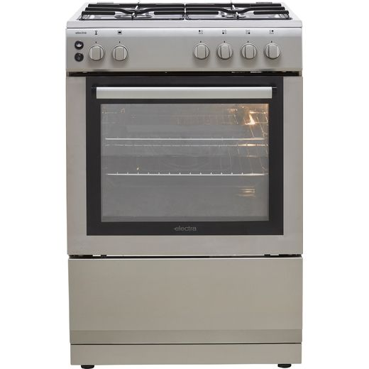 Electra SG60S Gas Cooker - Silver - A Rated