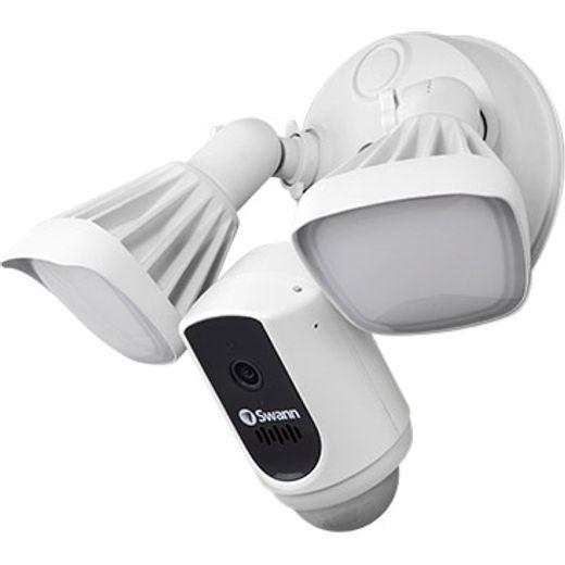 Swann Floodlight WiFi Security Camera Full HD 1080p - White