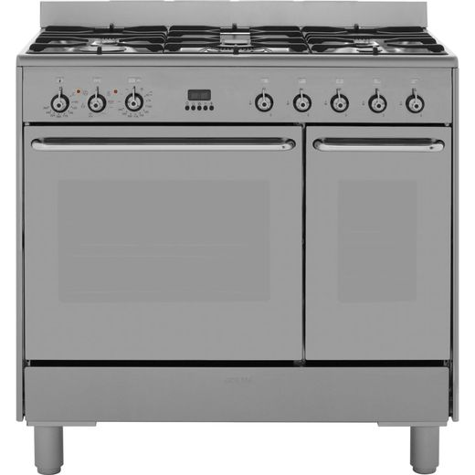 Smeg CG92X9 90cm Dual Fuel Range Cooker - Stainless Steel - A/A Rated