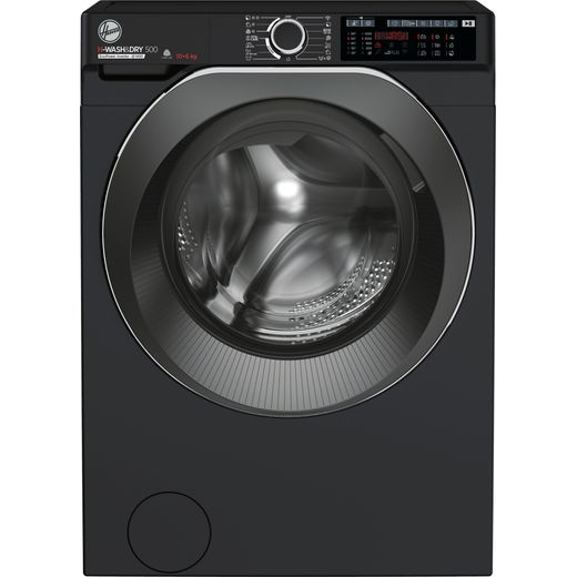 Hoover H-WASH 500 HD4106AMBCB/1 Wifi Connected 10Kg / 6Kg Washer Dryer with 1400 rpm - Black - D Rated