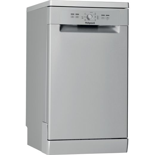 Hotpoint HSFE1B19SUKN Slimline Dishwasher - Silver - A+ Rated