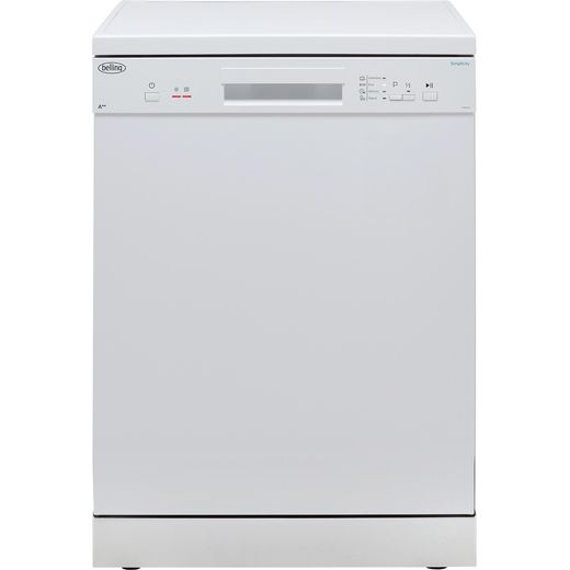 Belling Simplicity FDW120 Standard Dishwasher - White - E Rated