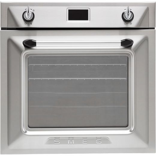 Smeg Victoria SFP6925XPZE1 Built In Electric Single Oven - Silver - A+ Rated