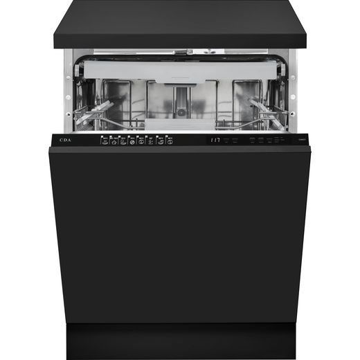 CDA CDI6371 Fully Integrated Standard Dishwasher - Black Control Panel - D Rated