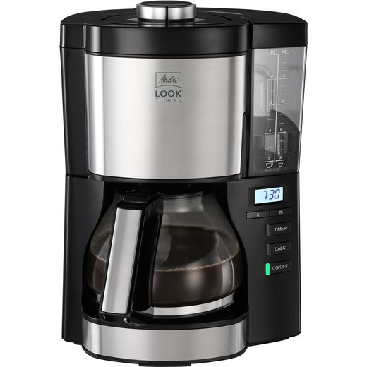 Melitta Look V Timer Black 1025-08 6766591 Filter Coffee Machine with Timer - Black / Stainless Steel