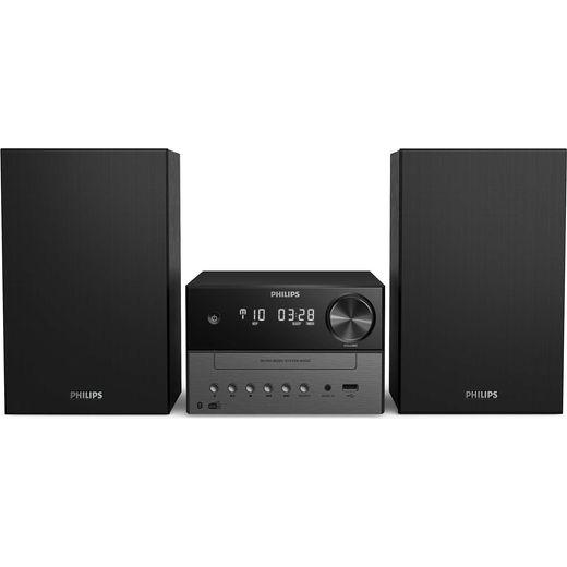 Philips TAM3505/12 18 Watt Hi-Fi System with Bluetooth - Black / Grey