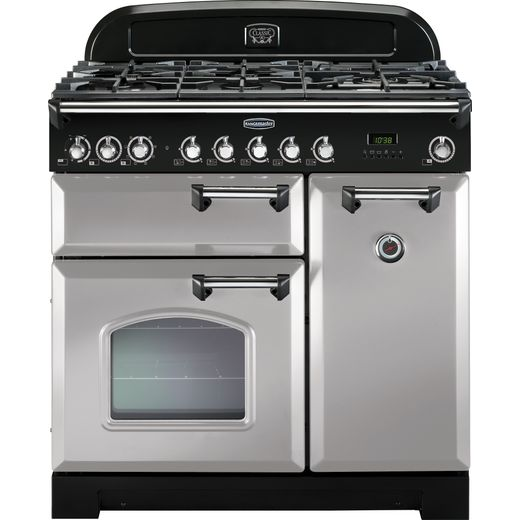 Rangemaster Classic Deluxe CDL90DFFRP/C 90cm Dual Fuel Range Cooker - Royal Pearl - A/A Rated