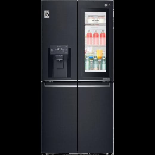 LG InstaView™ Door-in-Door™ GMX844MCKV American Fridge Freezer - Matte Black