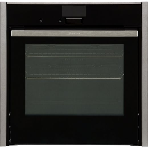 NEFF N90 Slide&Hide® B57VS24H0B Wifi Connected Built In Electric Single Oven with added Steam Function - Stainless Steel - A Rated