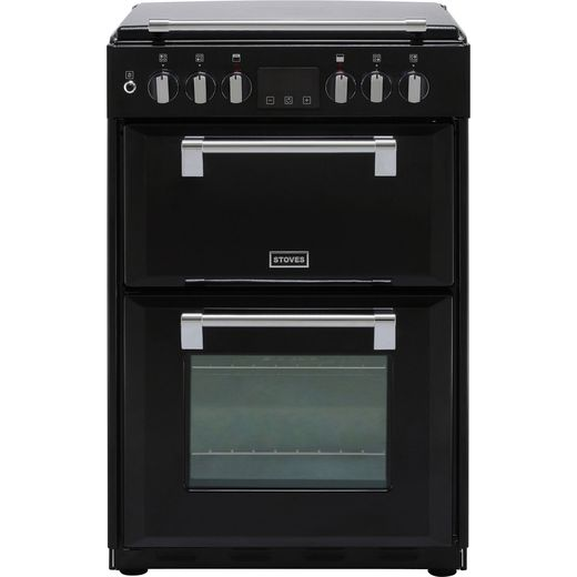 Stoves Richmond600DF Dual Fuel Cooker - Black - Needs 4.8KW Electrical Connection