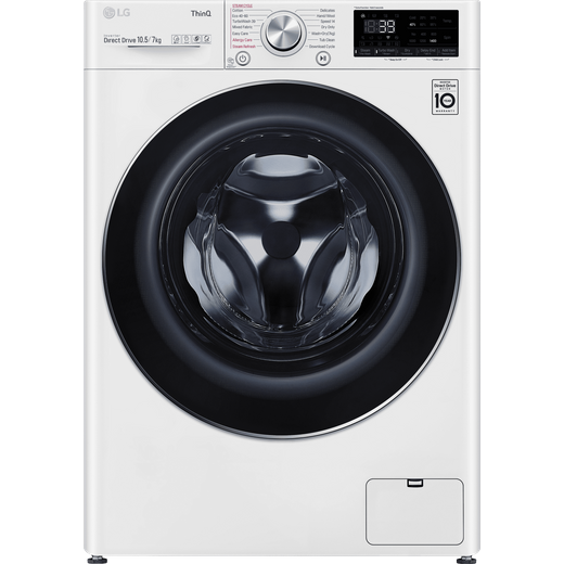 LG V9 FWV917WTSE Wifi Connected 10.5Kg / 7Kg Washer Dryer with 1400 rpm - White - E Rated