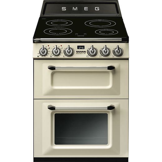 Smeg Victoria TR62IP Electric Cooker with Induction Hob - Cream - A/A Rated