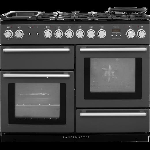Rangemaster Nexus NEX110DFFSL/C 110cm Dual Fuel Range Cooker - Slate - A/A Rated