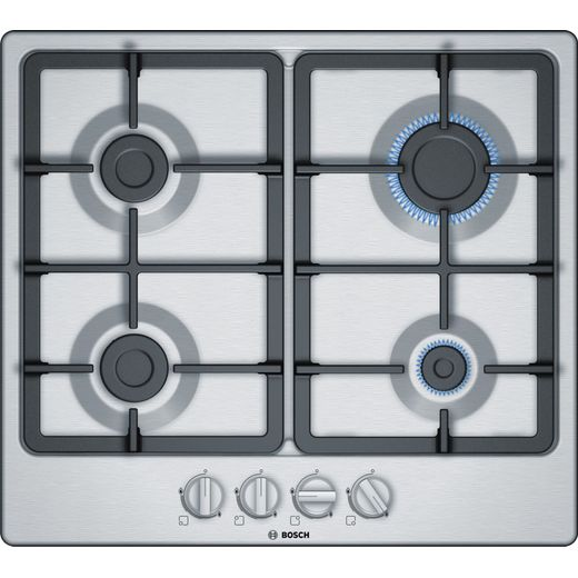 Bosch Serie 4 PGP6B5B90 58cm Gas Hob - Stainless Steel