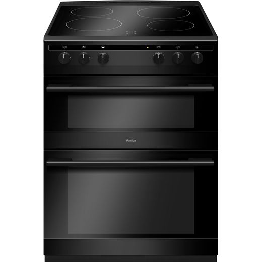 Amica AFC6520BL 60cm Electric Cooker with Ceramic Hob - Black - A/A Rated