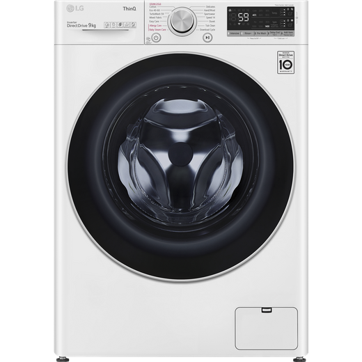 LG V7 F4V709WTSA Wifi Connected 9Kg Washing Machine with 1400 rpm - White - B Rated