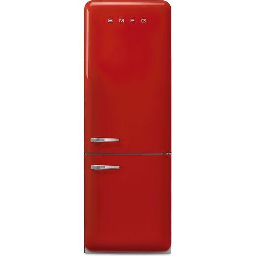 Smeg Right Hand Hinge FAB38RRD5 70/30 Frost Free Fridge Freezer - Red - E Rated