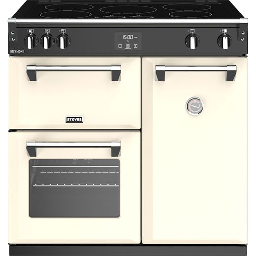 Stoves Richmond S900Ei 90cm Electric Range Cooker with Induction Hob - Cream - A/A/A Rated